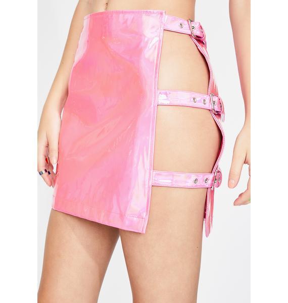 Club Exx Hard Kandi Holographic Skirt