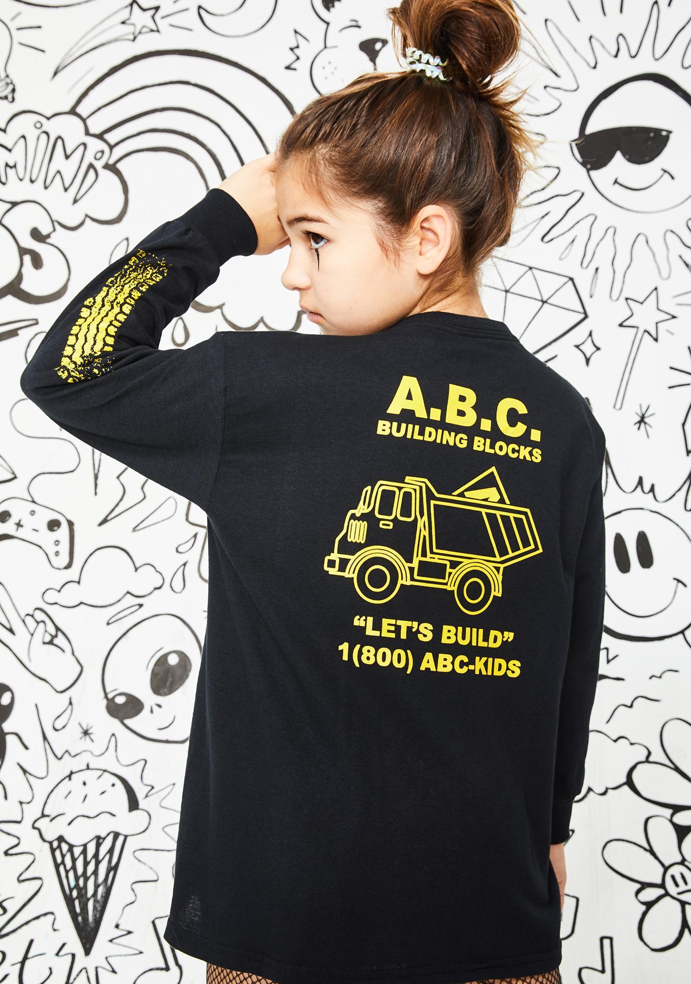 A.B.C. Kidswear Let's Build Long Sleeve Tee