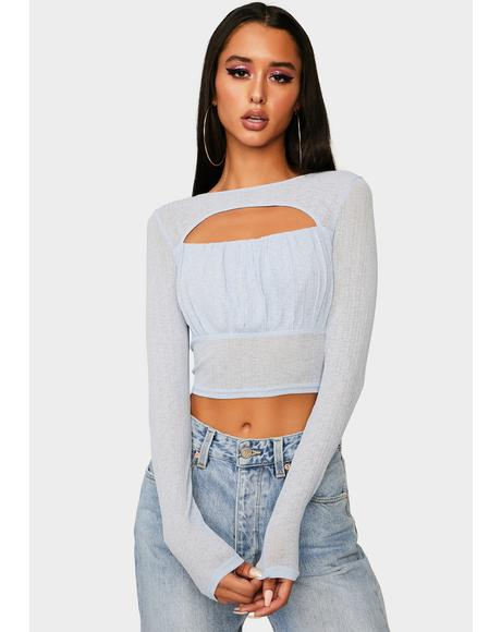 Out Of Here Mesh Long Sleeve Top