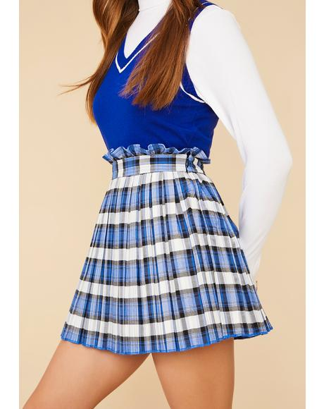 Got The Gossip Plaid Mini Skirt