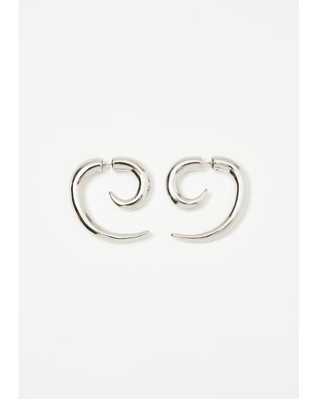 Chaotic Night Spiral Earrings