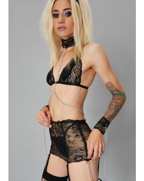 Caught In Chaos Lace Bondage Bralette
