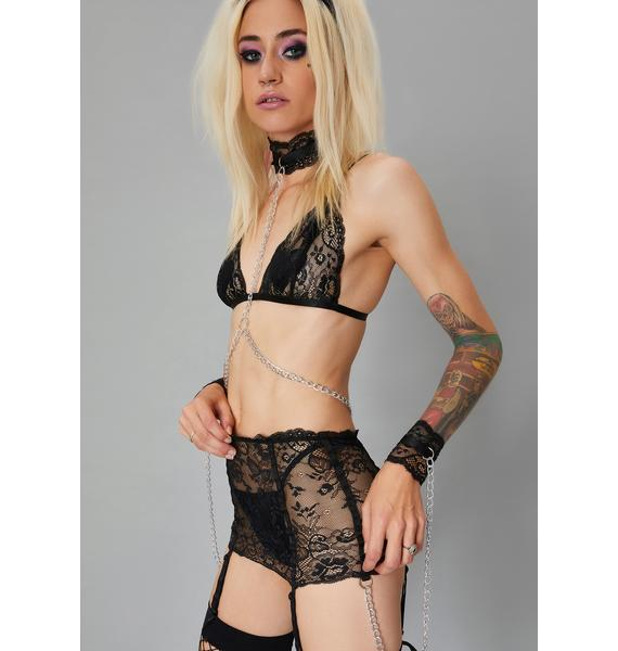 Widow Caught In Chaos Lace Bondage Bralette