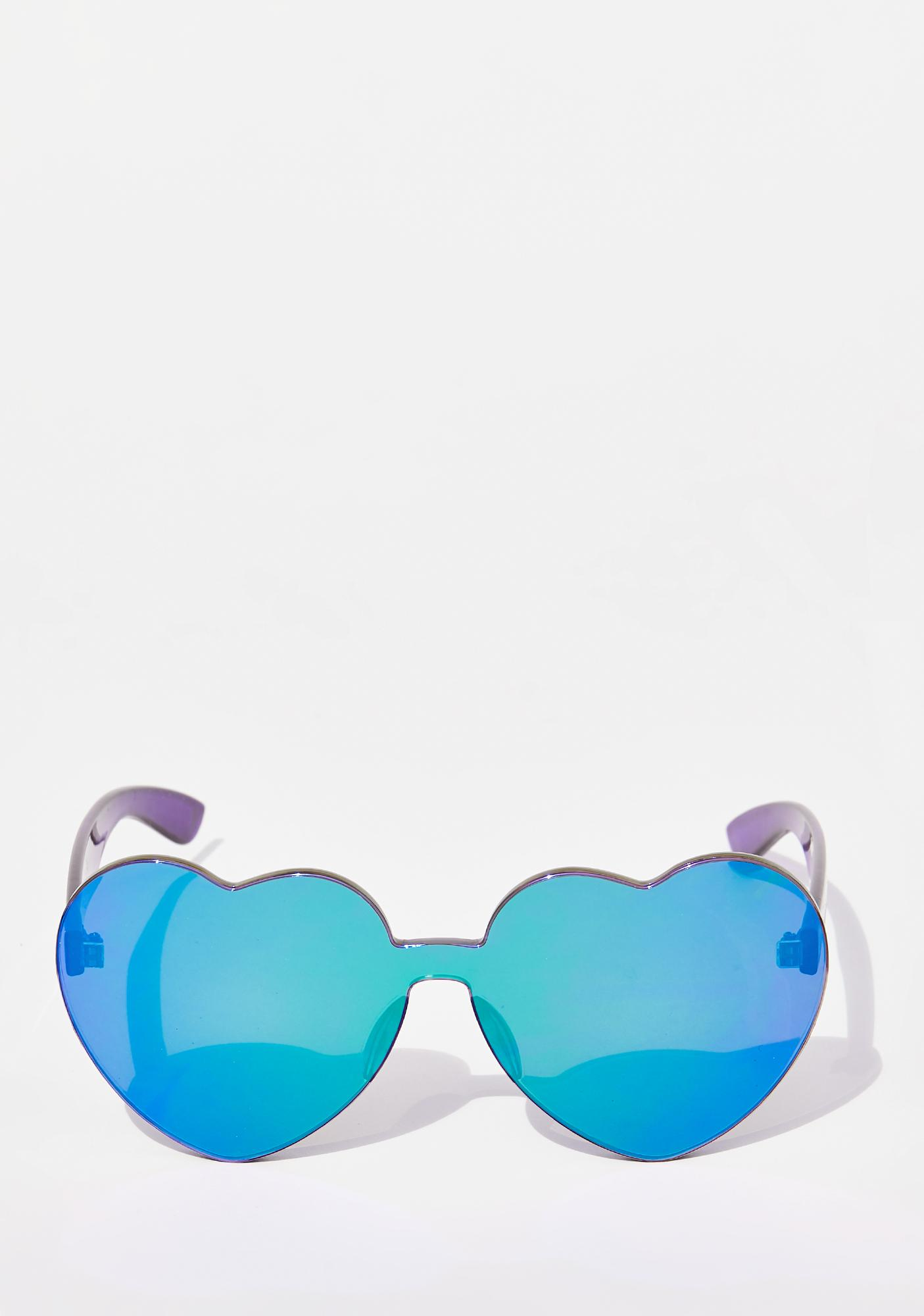 Lover Not A Fighter Heart Sunglasses