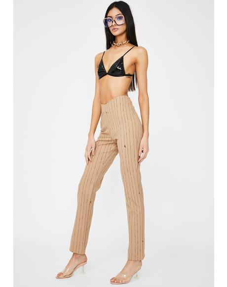 Dominique Pinstripe Pants