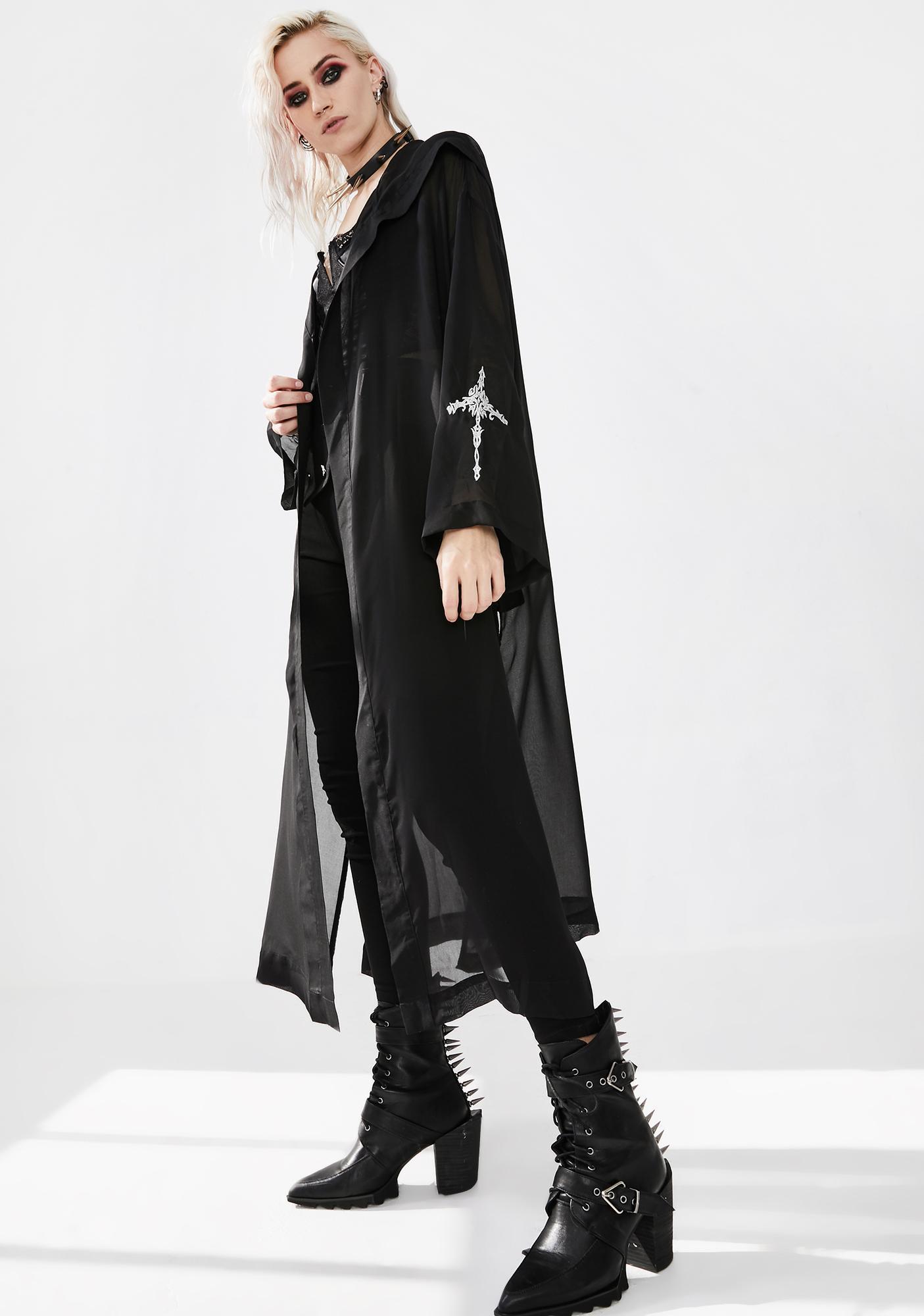 Punk Rave Wizard Hat Suntan Kimono