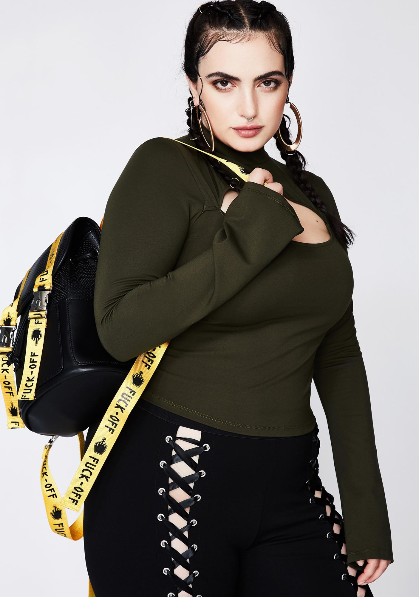 Poster Grl Army Push Your Luck Cut-Out Top