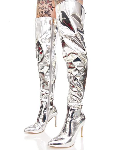 Space Oddity Thigh-High Boots