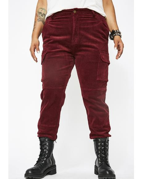 Bloody So Unimpressed Sis Corduroy Joggers