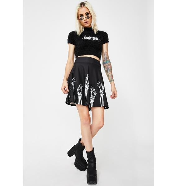 Too Fast Hands Up N' Skirts Down Skater Skirt