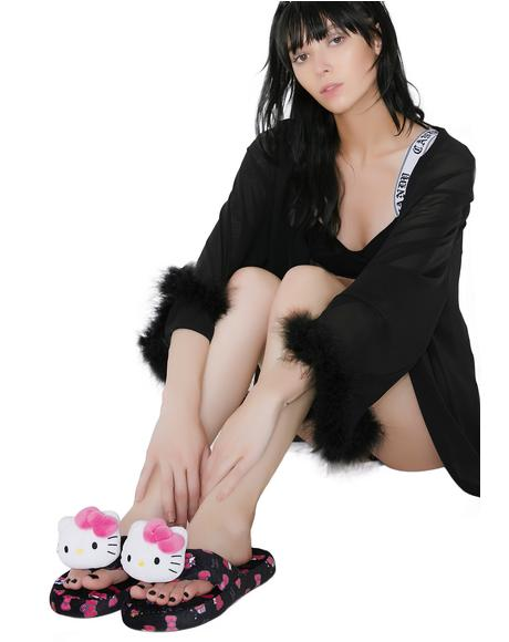 Hello Kitty Hide & Seek Bath Slippers