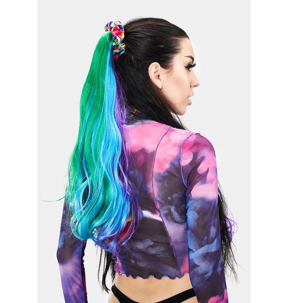 Blissful Rainbow Hair Extensions