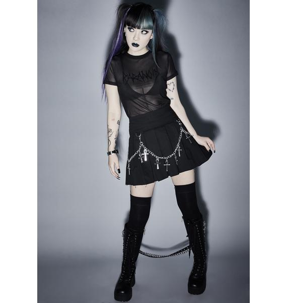 Widow Hexed For Life Pleated Skirt