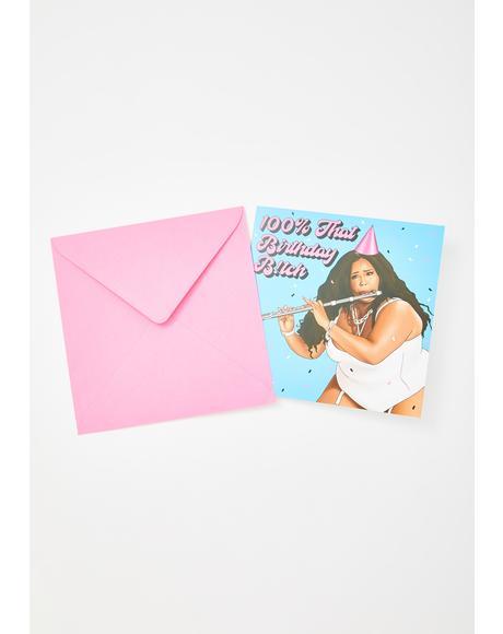 Lizzo 100% That Birthday Bish Card