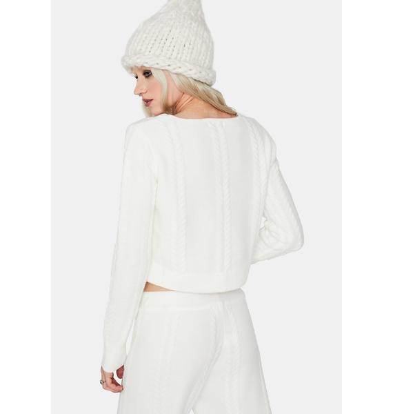 Frostbite Me Crop Knit Sweater
