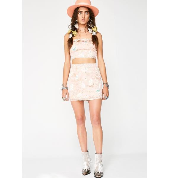 Dazed Out Floral Crop Top