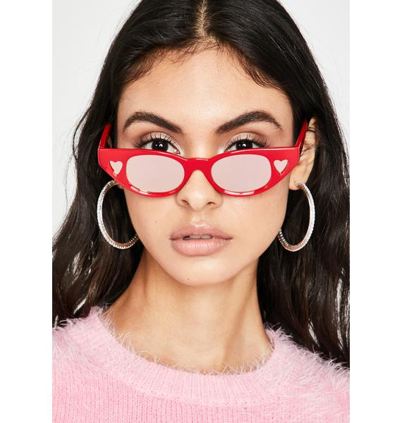 Fire Crazy Love Heart Sunglasses