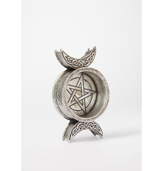 Alchemy England Triple Moon Candle Holder
