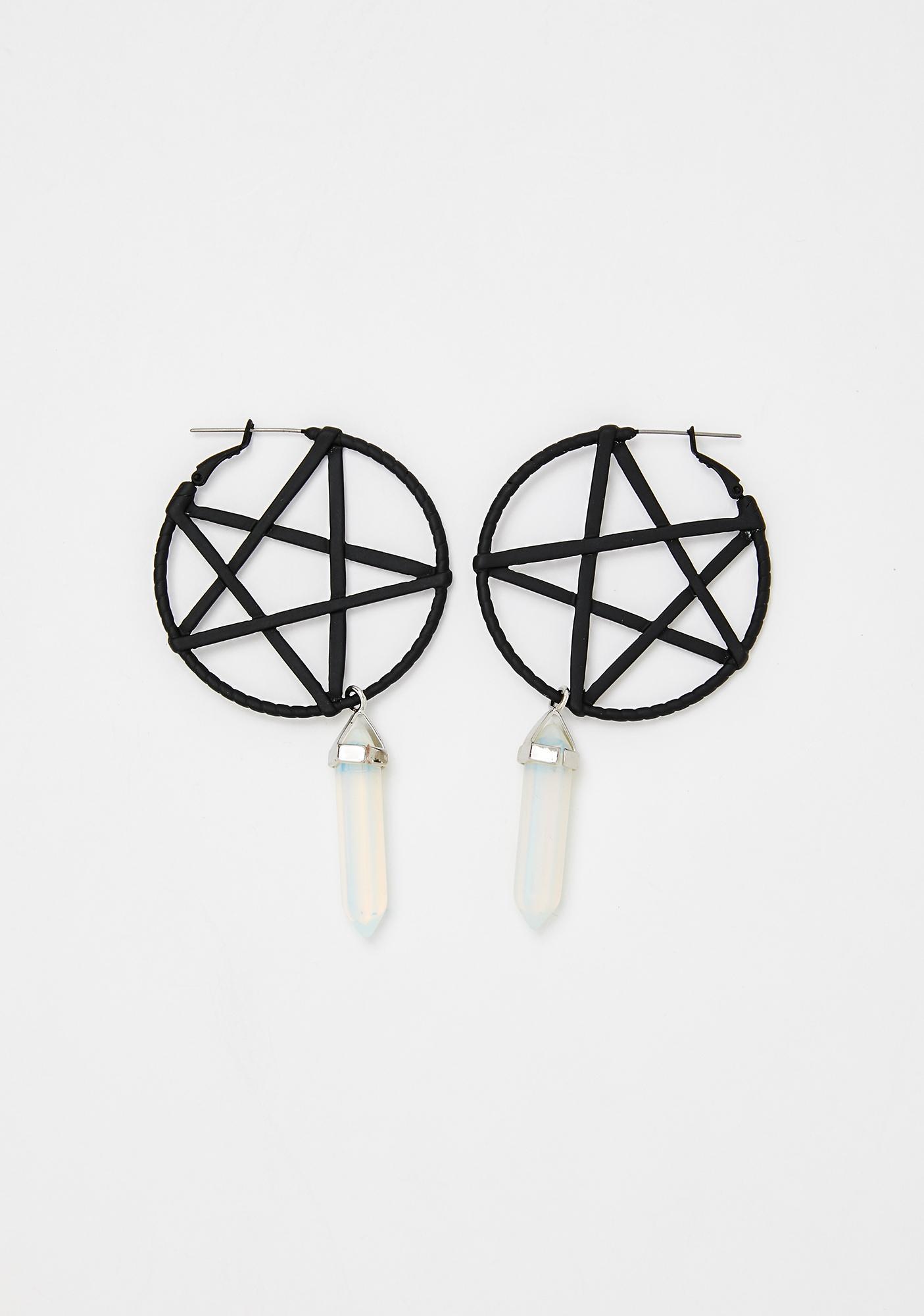 Naturally Charmed Crystal Earrings