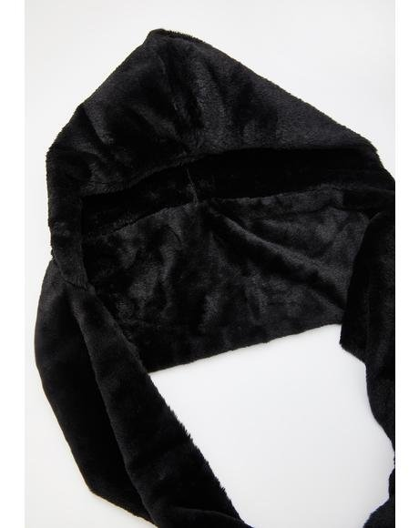 Black Emerie Head Scarf