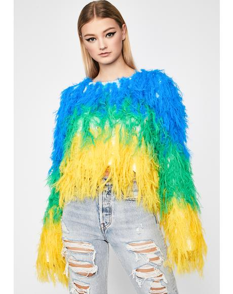 Bird Is The Word Shaggy Sweater