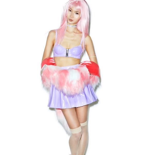 24HRS Princess Pastel Vinyl Bra