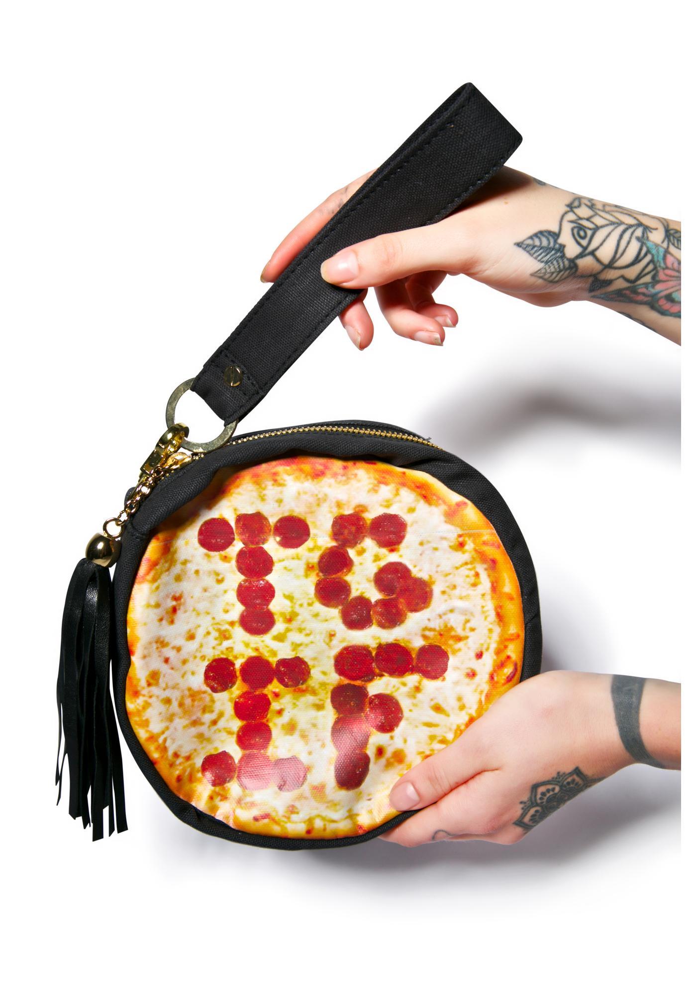 Barber Mama Celesta Pizza Wristlet