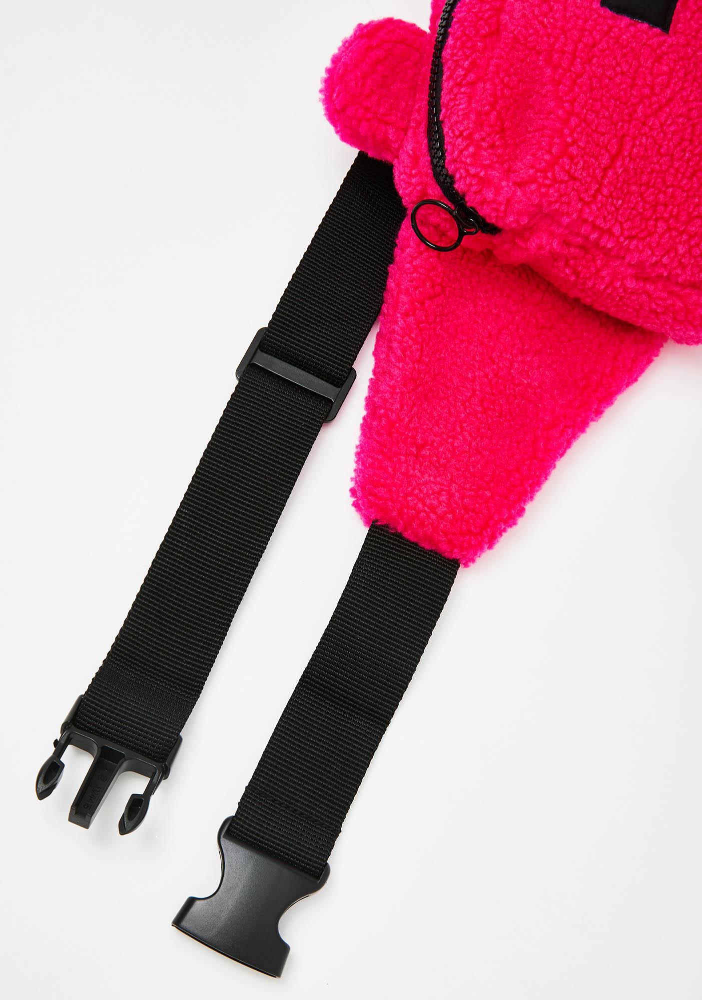Lazy Oaf Pink Bear Bum Bag