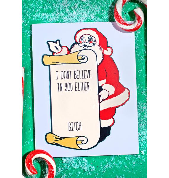 Never Believe Christmas Card