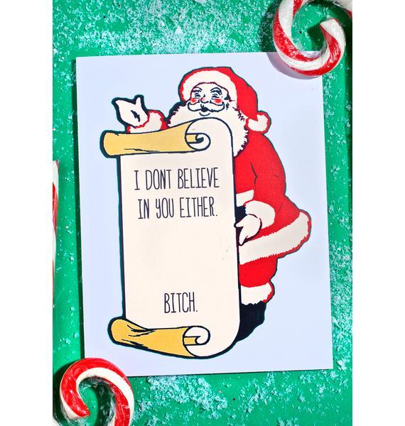 Never Believe Christmas Card