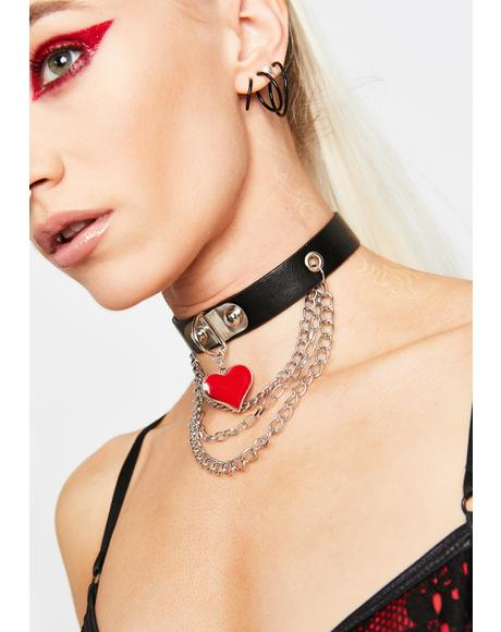 Love Danger Vegan Leather Choker