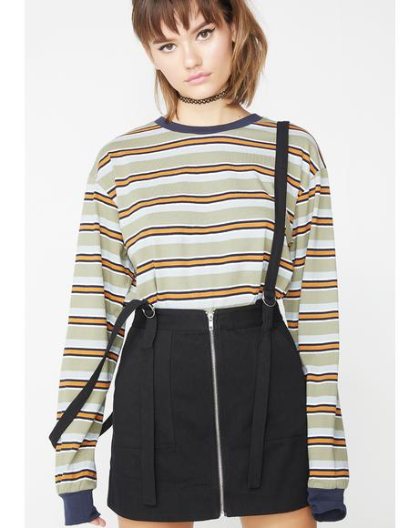 Grade A Suspender Skirt