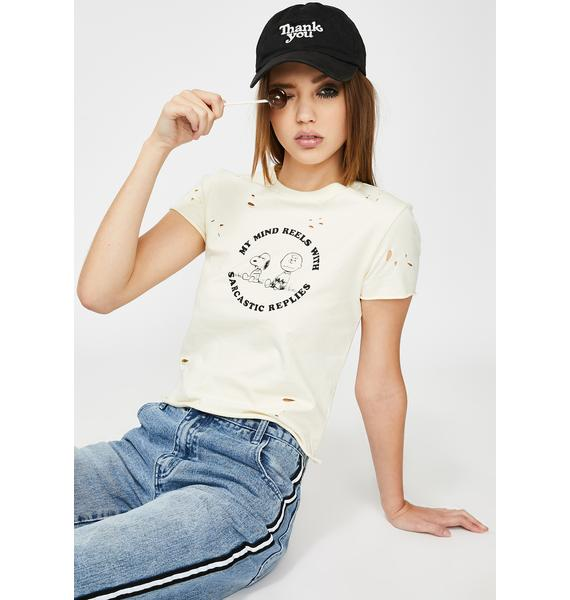 Lazy Oaf x Peanuts Fitted Tee