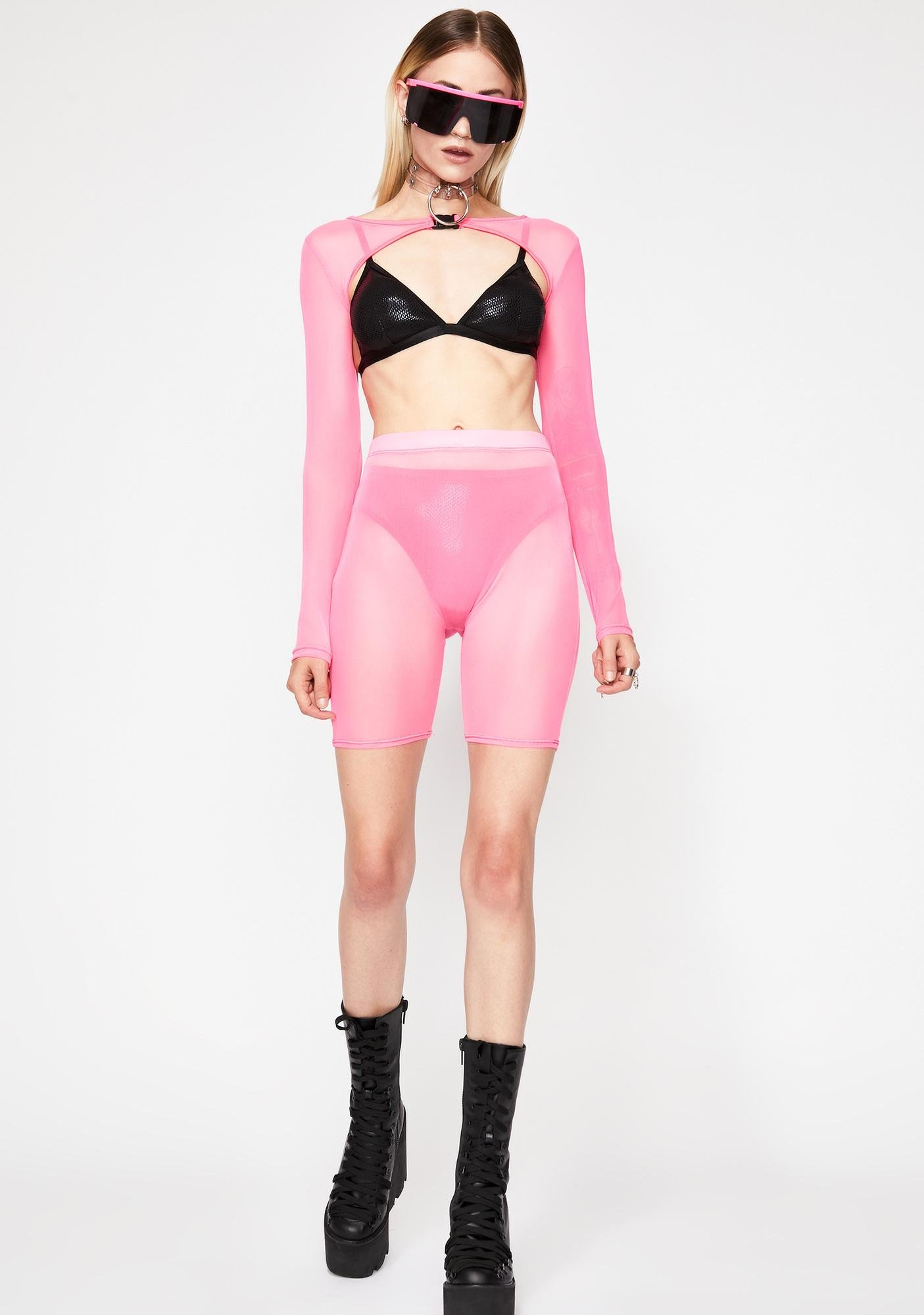Bubblegum Trippy Delirium Sheer Set