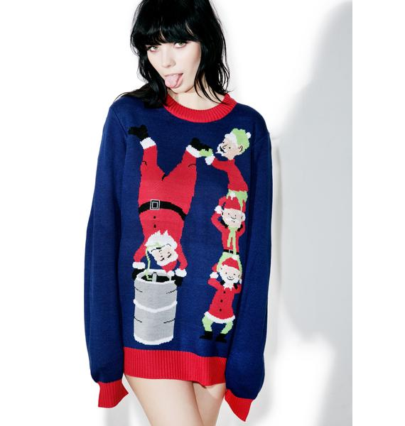 Tipsy Elves Keg Stand Sweater