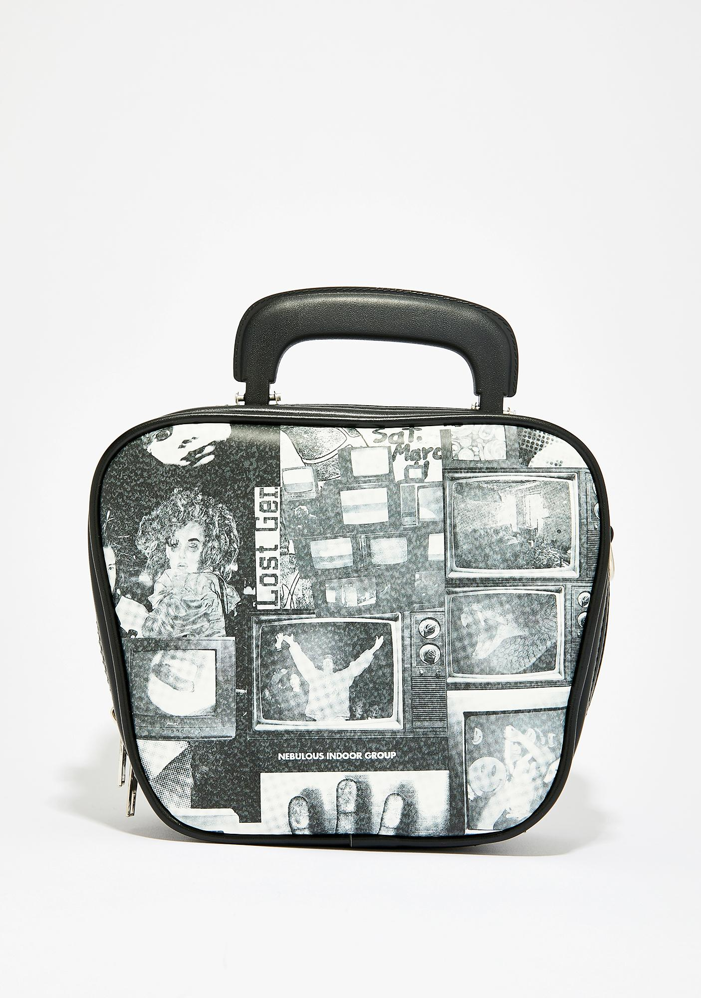 Current Mood TV Static Bowler Bag