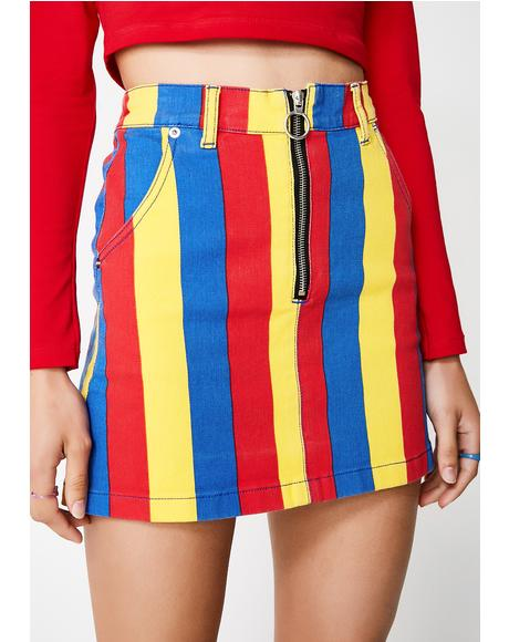 Paint The Town Denim Skirt