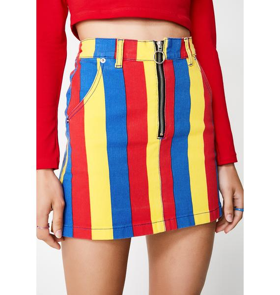 Minga Paint The Town Denim Skirt