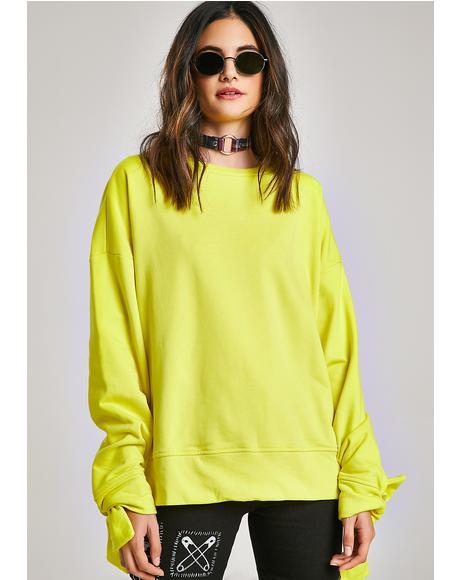 Comin' Apart Neon Sweatshirt
