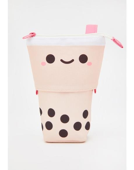 Pearl Boba Tea Retractable Pencil Case