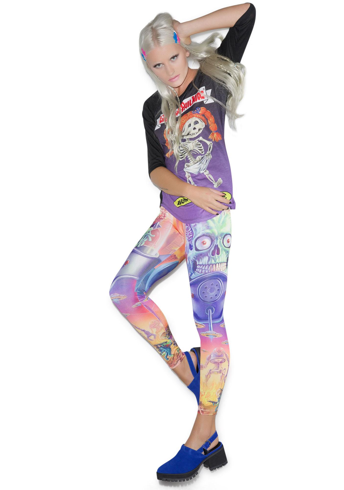 Kreepsville 666 Mars Attacks Full Battle Leggings