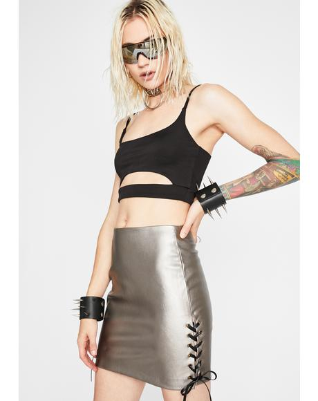 Dusty Vixen Metallic Skirt