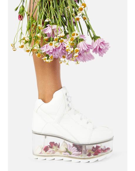 White Qozmo Qloud Platform Sneakers
