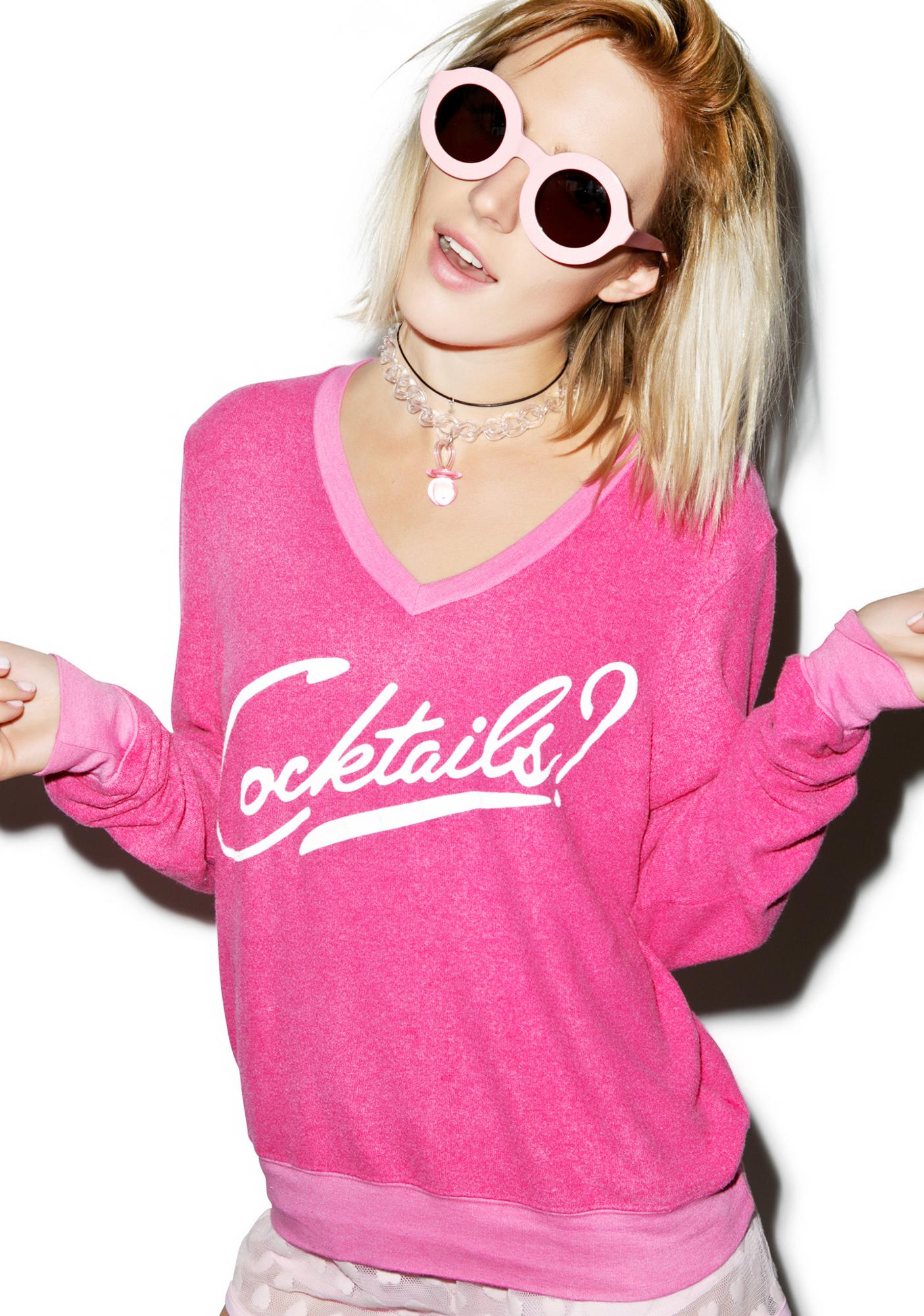 Wildfox Couture Another Round V-Neck Baggy Beach Jumper
