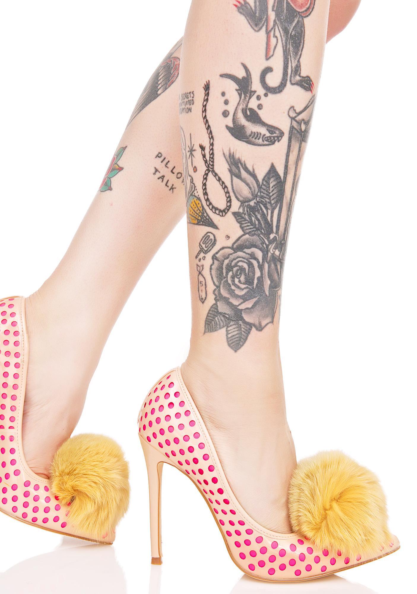 Privileged Nude Dulce Pom Heels