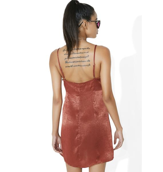 Ain't Misbehavin' Satin Slip Dress