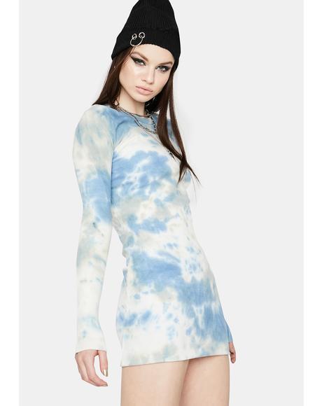 Sky Pause It Tie Dye Dress