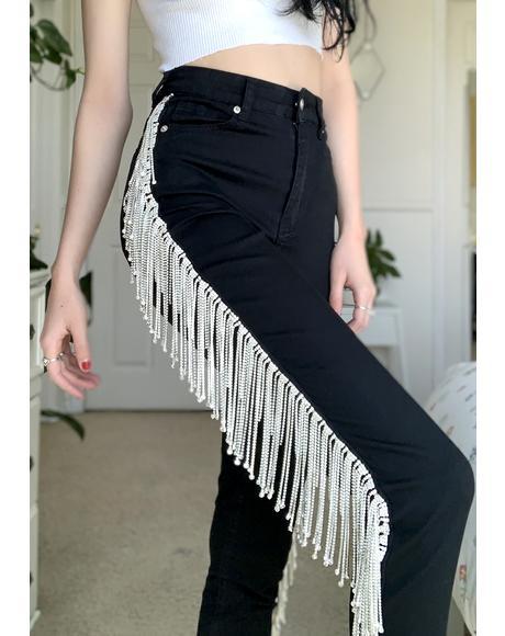 We Boomin' Rhinestone Skinny Jeans