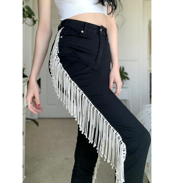 AZALEA WANG We Boomin' Rhinestone Skinny Jeans