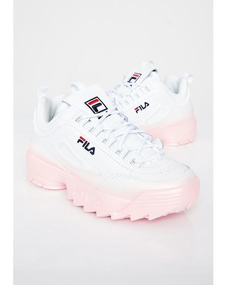 2b60701a757 Blush Disruptor II Premium Fade Sneakers Blush Disruptor II Premium Fade  Sneakers ...